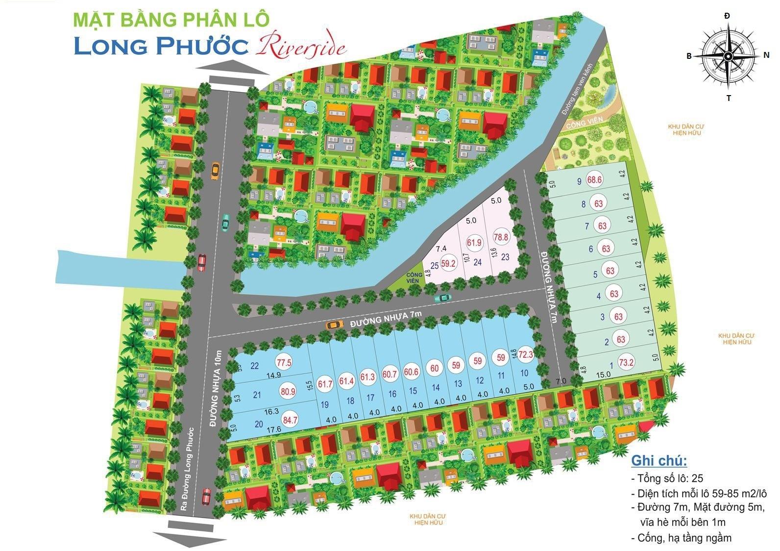 Mặt bằng dự án long phước riverside quận 9